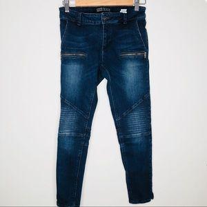 Zara basic moto skinny jeans
